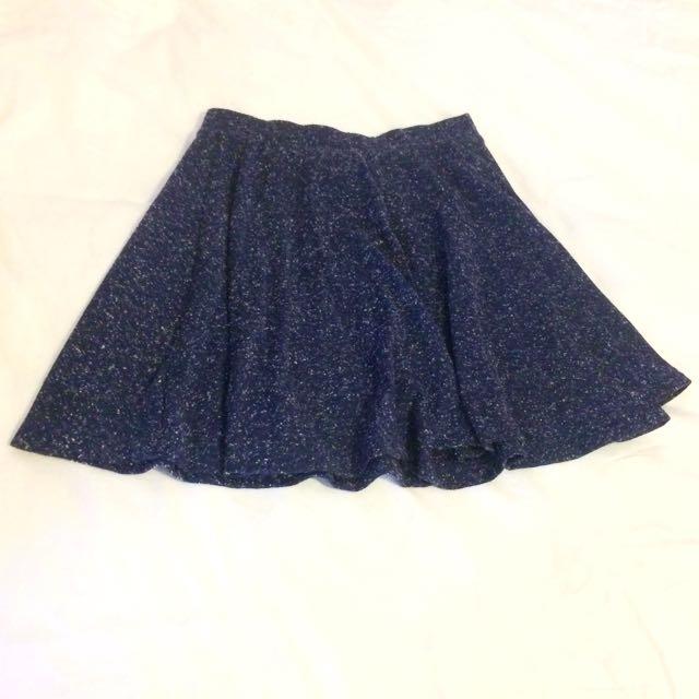 Top Shop Navy Blue Skater Skirt