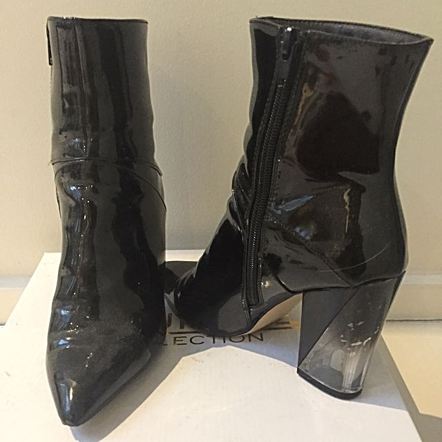 Truffle Collection Ankle Perspex Boots AU 6.5-7
