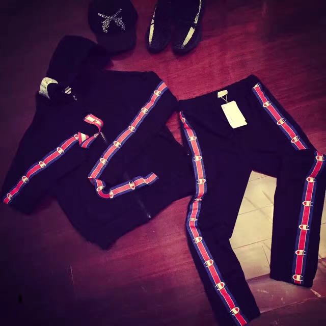 2017FW Vetements x Champion Zip hoodie hooded jacket & pants