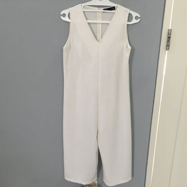 White 7/8 Jumpsuit