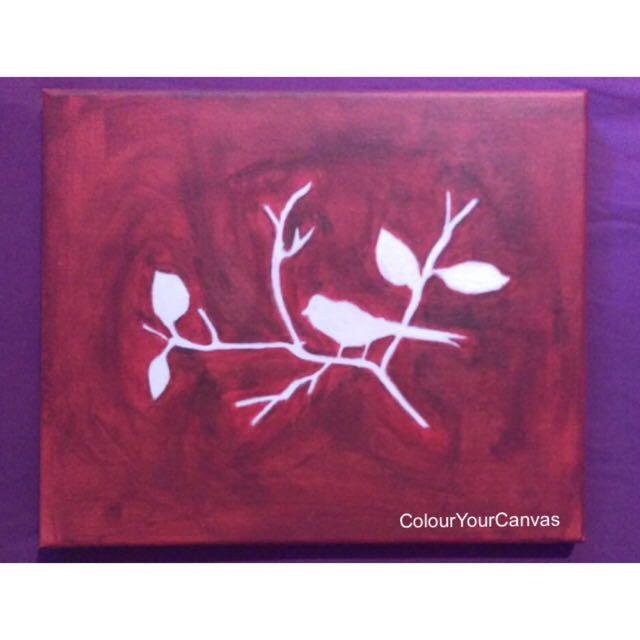 White Bird Acrylic Canvas #under20