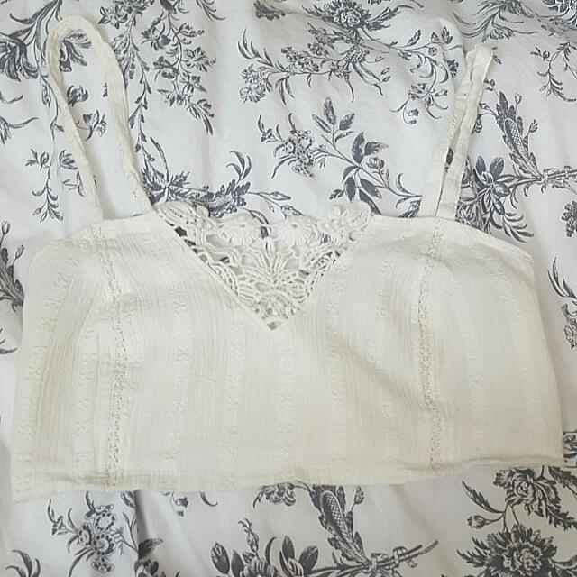 White Bralette Styled Top