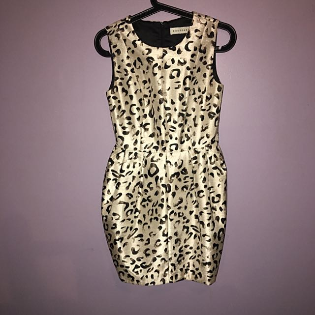 XS Keepsake Animal Print Dress