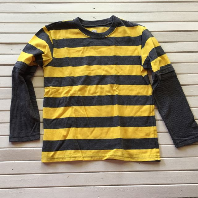 Yellow And Grey Sweater For Boys 5 Years Old