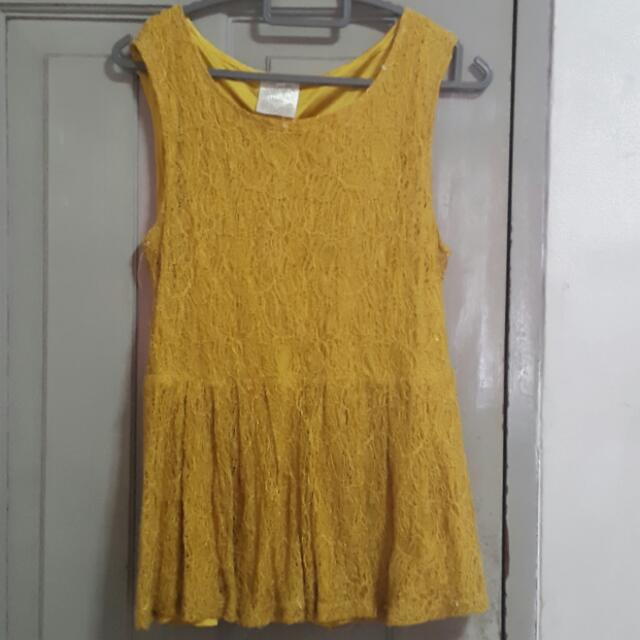 Yellow Lace Top