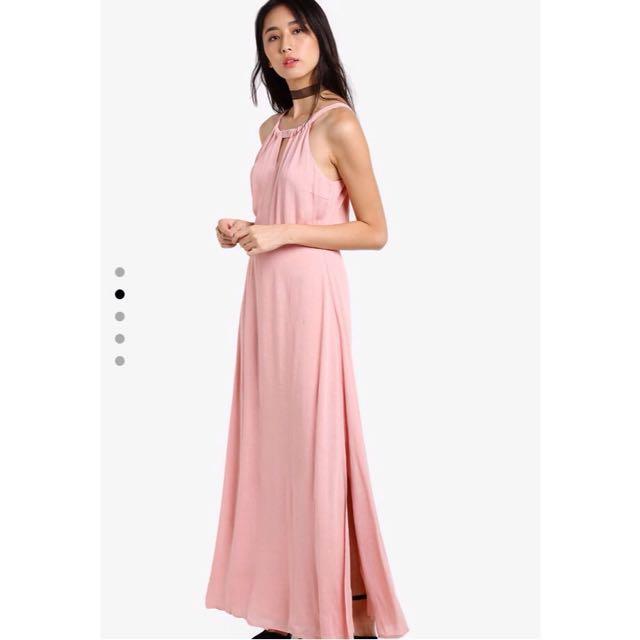 ZALORA Pink Maxi Dress