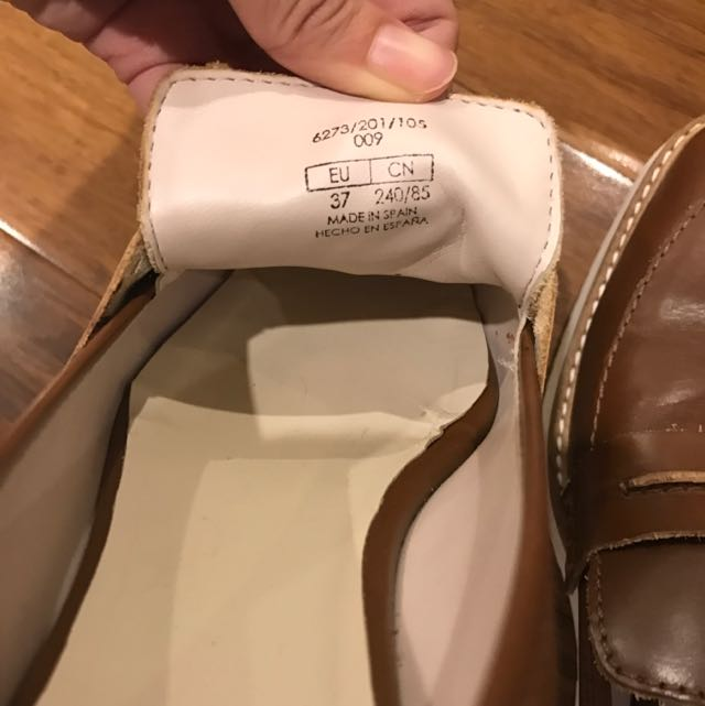Zara Leather Loafers, Mules