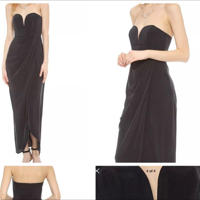 Zimmerman Strapless Drape Maxi Maxi Dress 0/6/8 Rrp $600