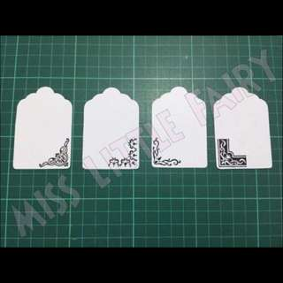 Stamped Scalloped gift tag