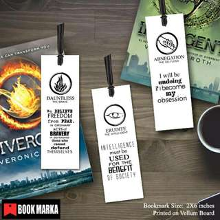 Divergent Faction Bookmarks