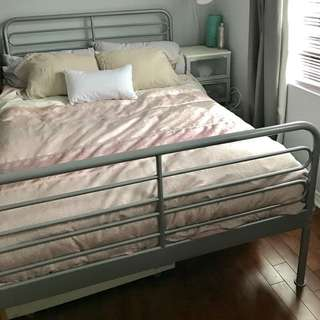 Double / Full Ikea Aluminum Bed Frame
