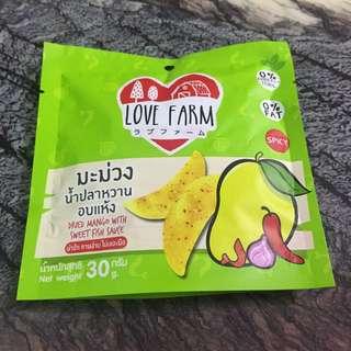 泰國 辣芒果乾 檸檬乾 辣檸檬乾 Love Farm