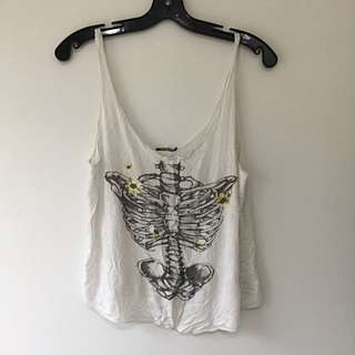 White Skeleton Tank Sm - M