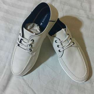 Lacoste Aristide White Canvas Shoes