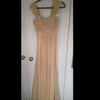 CHAMPAGNE COLOUR PROM DRESS