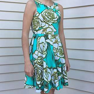 Forever 21 Backless Turquoise Flare Dress #under20