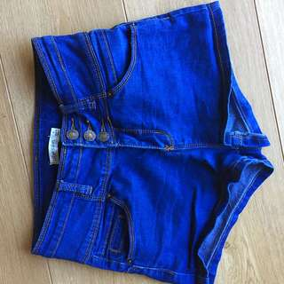 Denim High Waist/ High Rise Shortie-Shorts #under20