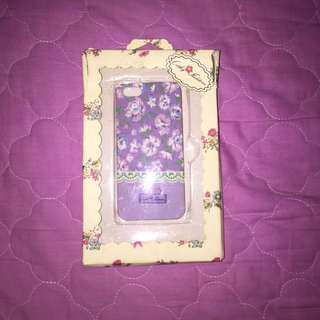 Iphone 5/5s/SE Cathy Kidstone Purple Floral Case