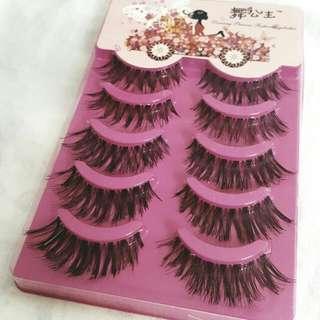 5 Pairs Black Eyelashes