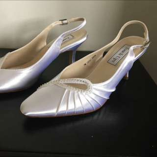 Touch Up White Evening Shoes