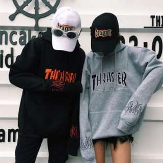 Thrasher Flame Embroidered Hoodies