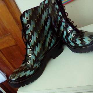 Kenzo Leather Combat Boots