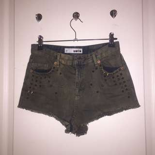 Moto Denim Shorts (topshop)