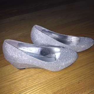 Size 9 Silver Wedges