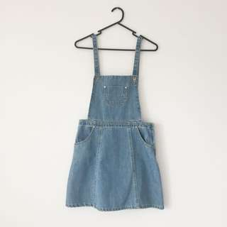 Denim Pinafore/ Overall Dress!