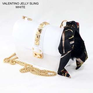Valentino Jelly Sling (White)