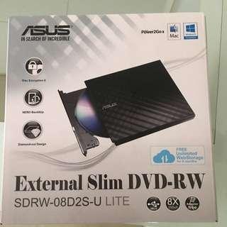 Says External Slim DVD-RW