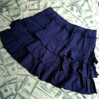 Midnight Blue Layered Skirt