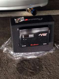 "Pioneer 12"" Subwoofer with 3000 Watts PWM V12 Amplifier"