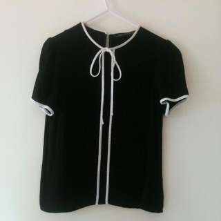 Zara Bow Blouse XS