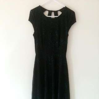 Black Galaxy Dress XXS