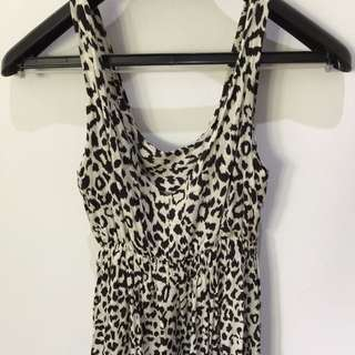 Long Leopard Print Dress
