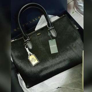 BNIB Ralph Lauren Haircalf Satchel