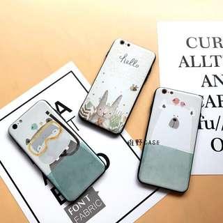可愛卡通北極熊蘋果7Plus手機殼iphone6s全包防摔軟膠水牛保護套