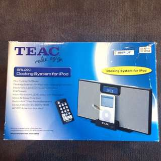 Teac Docking System For iPod, iPhone.