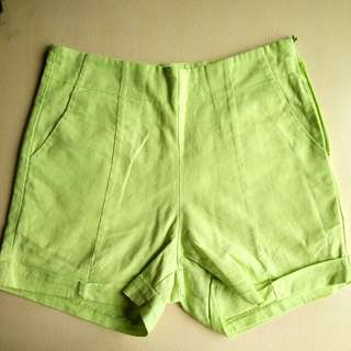 Apple Green Waist Shorts