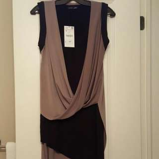 BNWT Zara Asymmetrical Dress