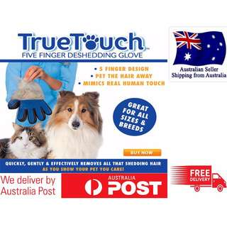 True Touch Cleaning Brush Magic Glove Pet Dog Cat Massage Hair Removal Grooming