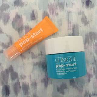 Clinique Pep-Start Moisturizer And Eyecream