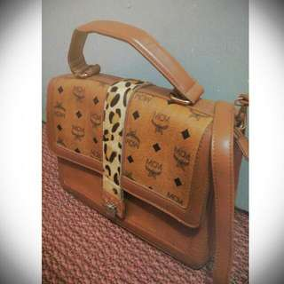 MCM Sling Leather Bag