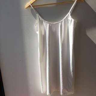 Satin-like White Camisole