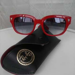 Ray Bans Womens Red Vintage Retro Style Sunglasses No Damage