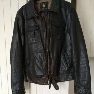 Scotch & Soda Vintage Dark Brown Leather Jacket.  Size M