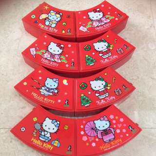 BN Limited Edition Hello Kitty Ornamental Functional Jigsaw 8 Piece Container with Cover