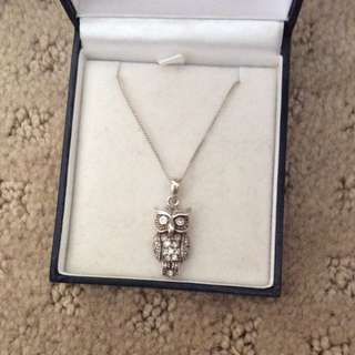 Prouds The Jewellers Owl Necklace