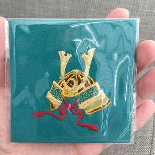 Japanese Coaster Embroidery Samurai Design